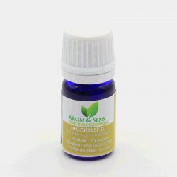 Helichryse gymnocephalum ou rambiazina vavy ou immortelle huile essentielle, Arom&Sens